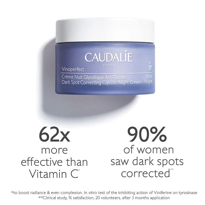 Caudalie Vinoperfect Dark Spot Correcting Glycolic Night Cream Ad