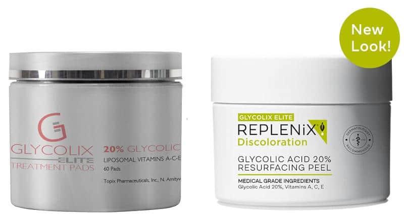 Glycolix Elite Treatment Pads vs Glycolix Elite Glycolic Acid 20% Resurfacing Peel