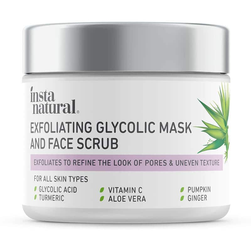InstaNatural Exfoliating Glycolic Mask and Face Scrub