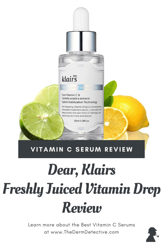 Klairs Freshly Juiced Vitamin C Serum Review Pinterest