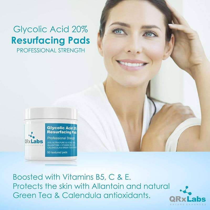 QRxLabs Glycolic Acid 20% Resurfacing Pads Ad