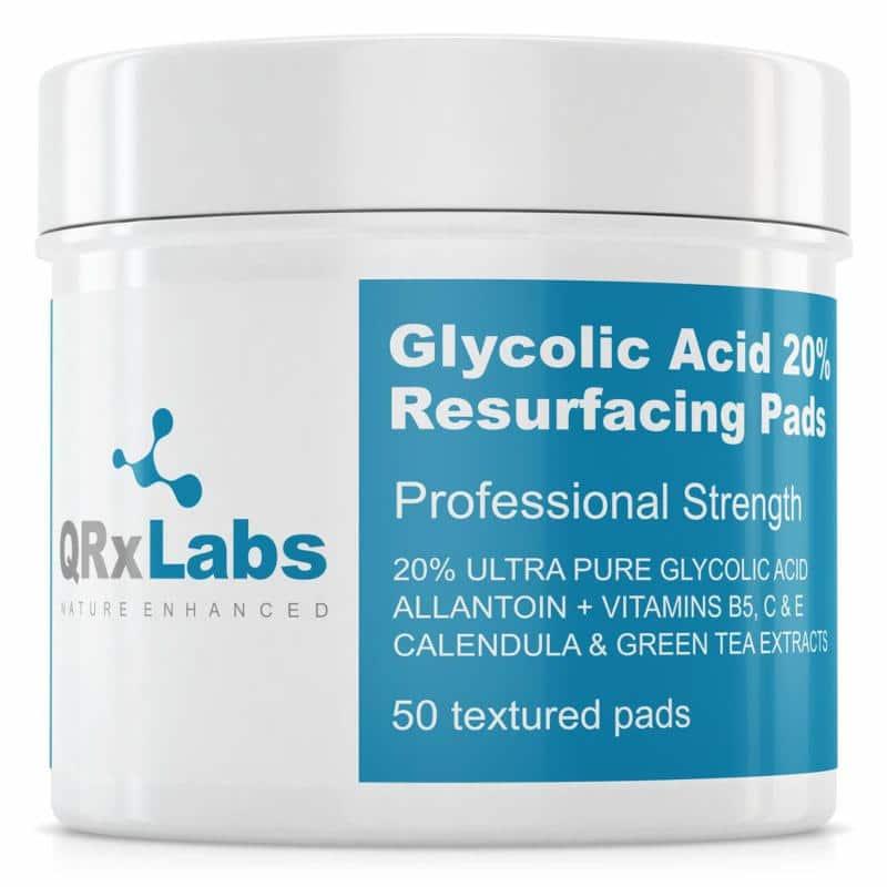 QRxLabs Glycolic Acid 20% Resurfacing Pads