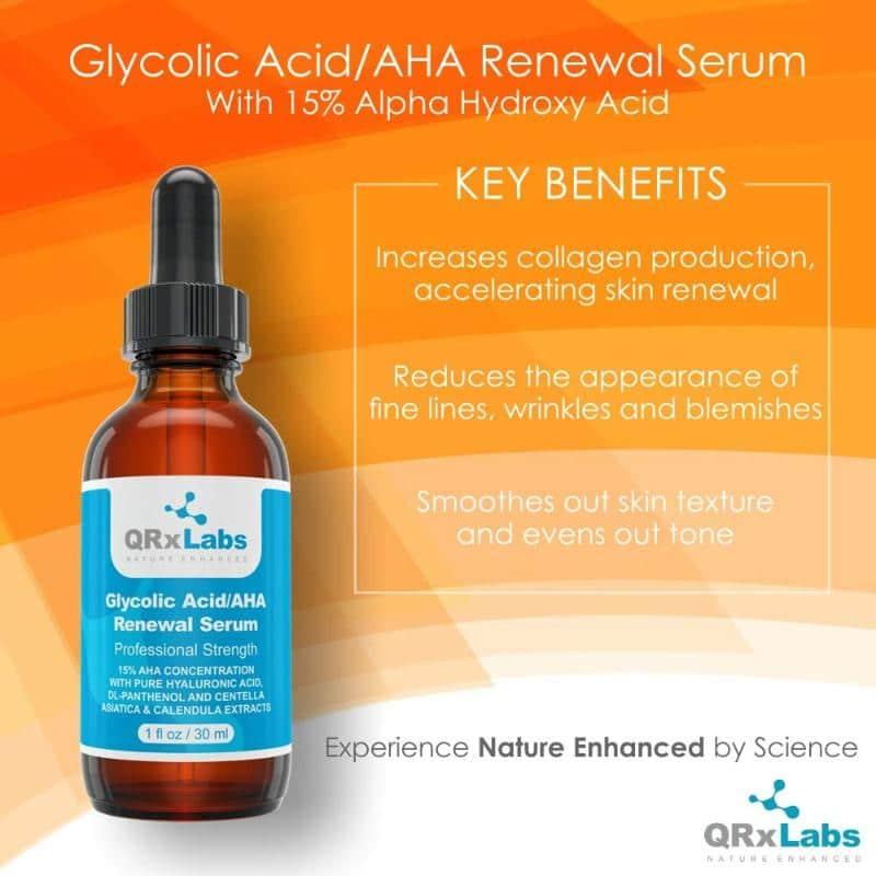 QRxLabs Glycolic Acid AHA 15% Renewal Serum Ad