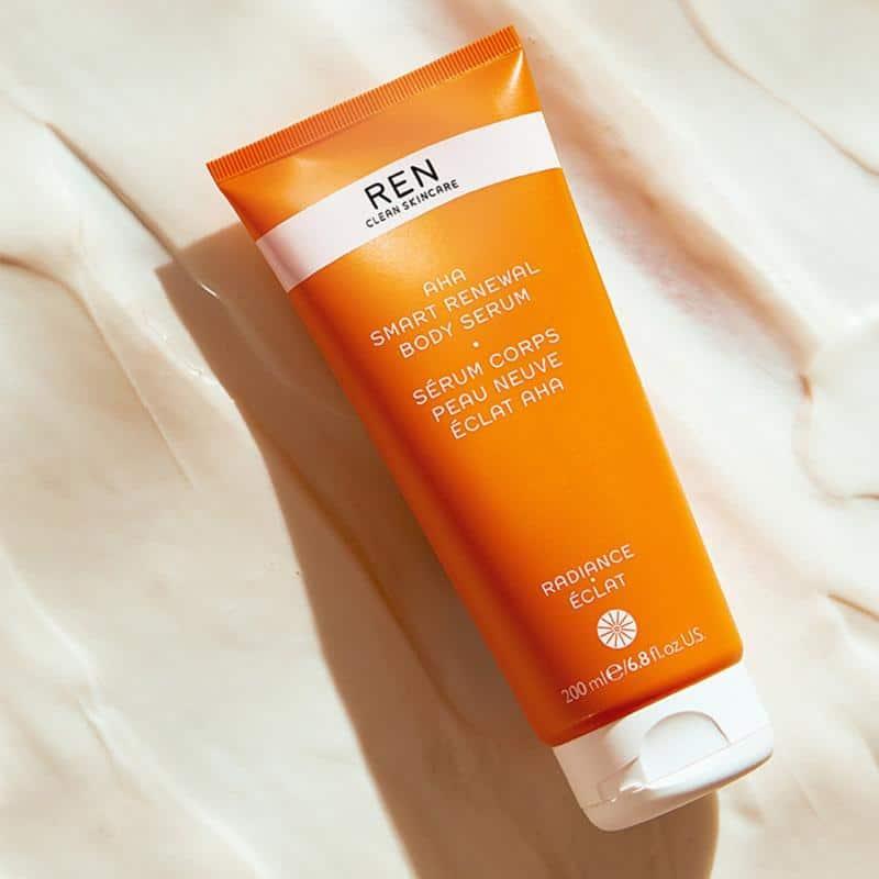 REN Clean Skincare AHA Smart Renewal Body Serum Ad